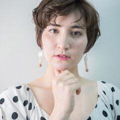 ショートヘア ショート ナチュラル 大人ショート ヘアスタイルや髪型の写真・画像