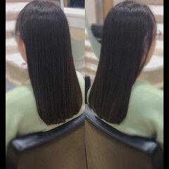 ロングヘアスタイル 髪質改善トリートメント ナチュラル ロングヘア ヘアスタイルや髪型の写真・画像