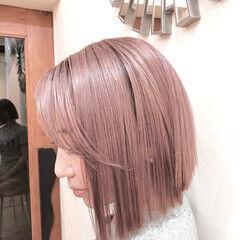 グラデーションカラー ナチュラル ハイライト ボブ ヘアスタイルや髪型の写真・画像