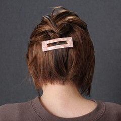 簡単ヘアアレンジ ボブ ナチュラル ミニボブ ヘアスタイルや髪型の写真・画像