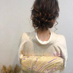 ヘアセット 和装ヘア フェミニン ロング ヘアスタイルや髪型の写真・画像