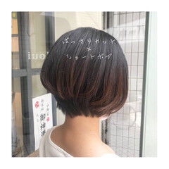 ショートヘア ショートボブ ナチュラル 大人ショート ヘアスタイルや髪型の写真・画像