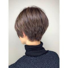 ナチュラル ショート 小顔ショート ベリショ ヘアスタイルや髪型の写真・画像