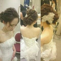 フェミニン パーティ ドレス ロング ヘアスタイルや髪型の写真・画像
