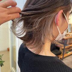 ミルクティーベージュ ウルフカット ブリーチ モード ヘアスタイルや髪型の写真・画像