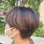 ショートボブ 外国人風カラー ナチュラル ショートヘア