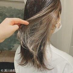デートヘア グラデーションカラー ストレート エレガント ヘアスタイルや髪型の写真・画像