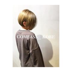 イノセントカラー ボブ アッシュ ナチュラル ヘアスタイルや髪型の写真・画像