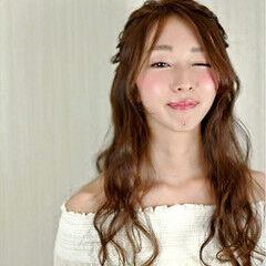 ヘアアレンジ ロング ピュア プリンセス ヘアスタイルや髪型の写真・画像