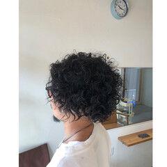 パーマ ストリート メンズカット ショート ヘアスタイルや髪型の写真・画像