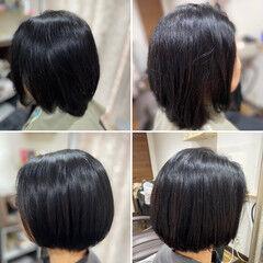 ショートヘア ベリーショート ミニボブ ヘナカラー ヘアスタイルや髪型の写真・画像