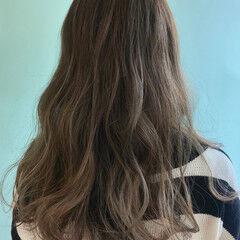 ミント ロング 透明感カラー ガーリー ヘアスタイルや髪型の写真・画像