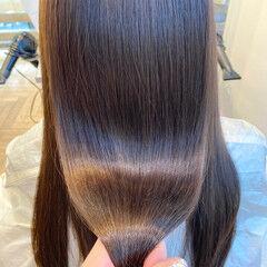 艶髪 イルミナカラー ナチュラル 透明感カラー ヘアスタイルや髪型の写真・画像