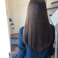 髪質改善カラー ナチュラル フォルムコントロールプレックス髪質改善 ロング ヘアスタイルや髪型の写真・画像