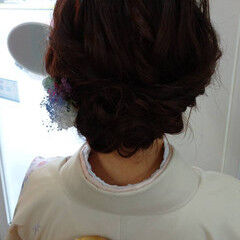 結婚式 エレガント 着物 結婚式ヘアアレンジ ヘアスタイルや髪型の写真・画像