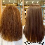 ロング ストレート トリートメント 髪質改善
