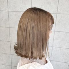 ミルクティーアッシュ ボブ イルミナカラー ミルクティーベージュ ヘアスタイルや髪型の写真・画像