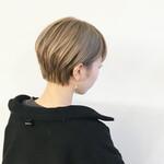 ハイトーンカラー モード ショートヘア ハンサムショート