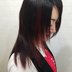 モード 艶髪 ストカール 縮毛矯正 ヘアスタイルや髪型の写真・画像