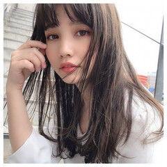 韓国ヘア 髪質改善カラー ロング 髪質改善トリートメント ヘアスタイルや髪型の写真・画像