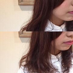 ゆるふわ ロング ラベンダー ガーリー ヘアスタイルや髪型の写真・画像