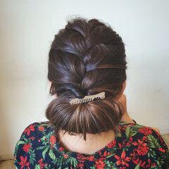 大人可愛い セミロング 結婚式 エレガント ヘアスタイルや髪型の写真・画像
