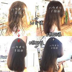 美髪矯正 セミロング 最新トリートメント hauoli ヘアスタイルや髪型の写真・画像