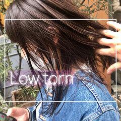 ダークアッシュ ダークグレー ダークトーン ダークカラー ヘアスタイルや髪型の写真・画像