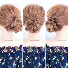 くるりんぱ ヘアアレンジ ロング フェミニン ヘアスタイルや髪型の写真・画像