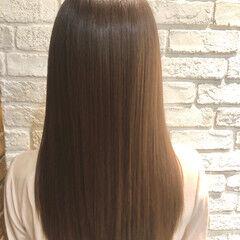 ロング ナチュラル 縮毛矯正 髪質改善トリートメント ヘアスタイルや髪型の写真・画像