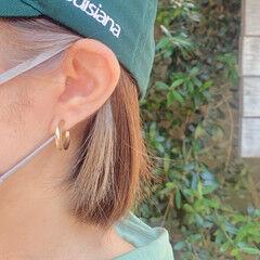うぶ毛ハイライト ストリート インナーカラー 耳かけ ヘアスタイルや髪型の写真・画像