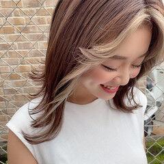 アッシュグレージュ グレージュ ダークグレー ミディアム ヘアスタイルや髪型の写真・画像