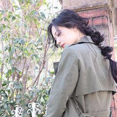 ナチュラル ヘアメイク ハンサムショート 編みおろしヘア ヘアスタイルや髪型の写真・画像