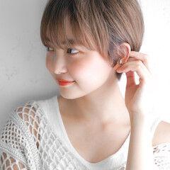 レザーカット レイヤーカット ショートヘア 似合わせカット ヘアスタイルや髪型の写真・画像