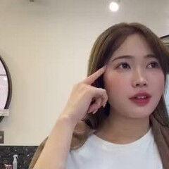 フェミニン ミディアム 後れ毛 韓国ヘア ヘアスタイルや髪型の写真・画像
