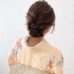 ミディアム 訪問着 振袖 留袖 ヘアスタイルや髪型の写真・画像
