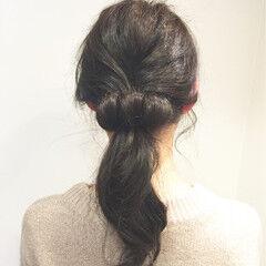 ポニーテール ヘアアレンジ ロング ローポニーテール ヘアスタイルや髪型の写真・画像