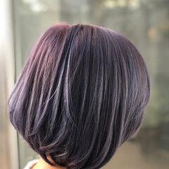 パープルアッシュ パープルカラー トワイライトパープル ガーリー ヘアスタイルや髪型の写真・画像