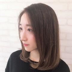 オーガニックカラー ミディアム ナチュラル デート ヘアスタイルや髪型の写真・画像