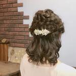 結婚式 フェミニン デート ヘアアレンジ