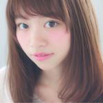 フェミニン 黒髪 アッシュ ピュア