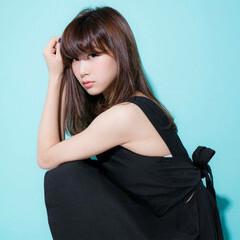 ロング 暗髪 ベース型 モード ヘアスタイルや髪型の写真・画像