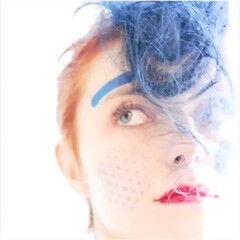 ブリーチ インナーカラー ハイトーンカラー 撮影 ヘアスタイルや髪型の写真・画像