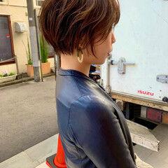 ワンカールスタイリング ショートボブ シースルーバング フェミニン ヘアスタイルや髪型の写真・画像