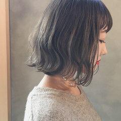 外国人風カラー ミニボブ ヘアアレンジ スモーキーカラー ヘアスタイルや髪型の写真・画像