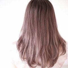 外国人風カラー ロング 外国人風 ピンクアッシュ ヘアスタイルや髪型の写真・画像