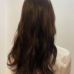 ロング ナチュラル グレージュ OL ヘアスタイルや髪型の写真・画像