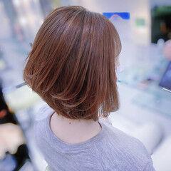 エレガント ショートボブ ミディアム 大人ショート ヘアスタイルや髪型の写真・画像