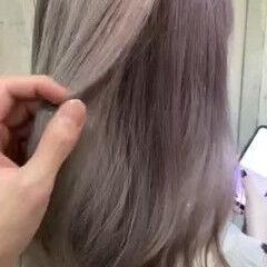 透明感カラー ミディアム フェミニン 大人かわいい ヘアスタイルや髪型の写真・画像