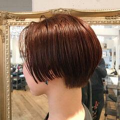 モード 艶髪 抜け感 ショート ヘアスタイルや髪型の写真・画像